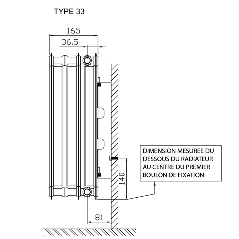 radiateur panneau horizontal compact type 33 chauffage. Black Bedroom Furniture Sets. Home Design Ideas