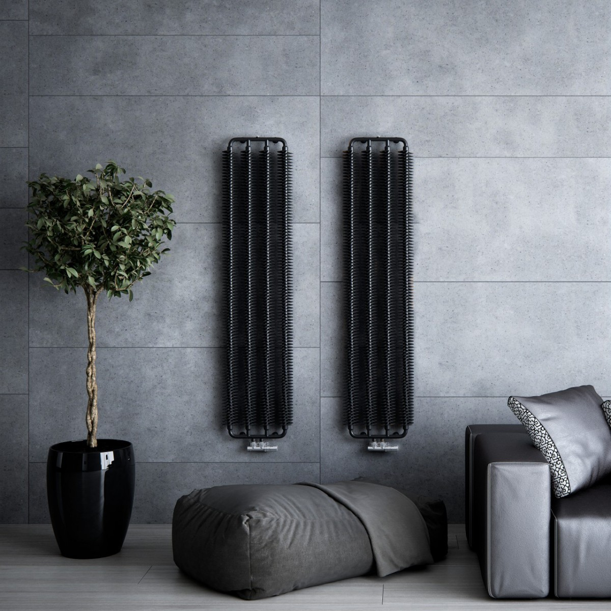ribbon un radiateur tube ailettes style industriel. Black Bedroom Furniture Sets. Home Design Ideas