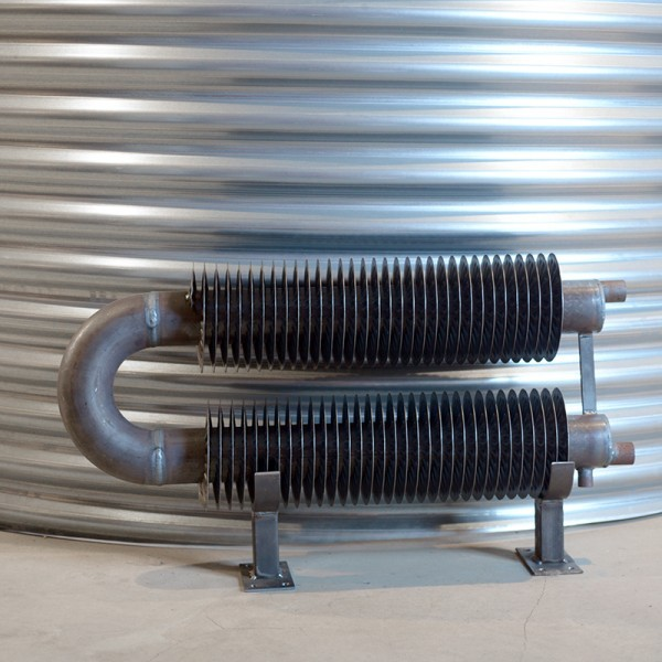 radiateur tube ailette double epingle