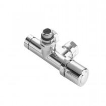 Pack robinetterie thermostatisable monopoint monotube / bitube entraxe 50mm coudé chromé