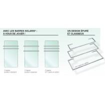 SOLARIS barre chromée pour séche-serviettes L630