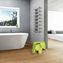 Rythmée et fonctionnel, radiateur eau chaude sèche-serviettes CHIME offre une qualité de finition incomparable