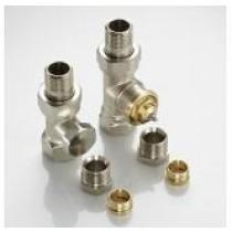 Kit robinetterie manuelle thermostalisable droit design nickelé