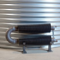 radiateur tube ailette double epingle